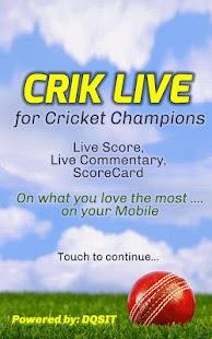 CRIK LIVE - Live Cricket