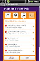 Screenshot of SHO Diagnostic Planner