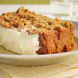 Carrot Quick Bread with Cream Cheese Frosting