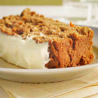 Carrot Quick Bread with Cream Cheese Frosting.
