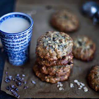 Chocolate, Banana, and Cardamom Oatmeal Cookies.