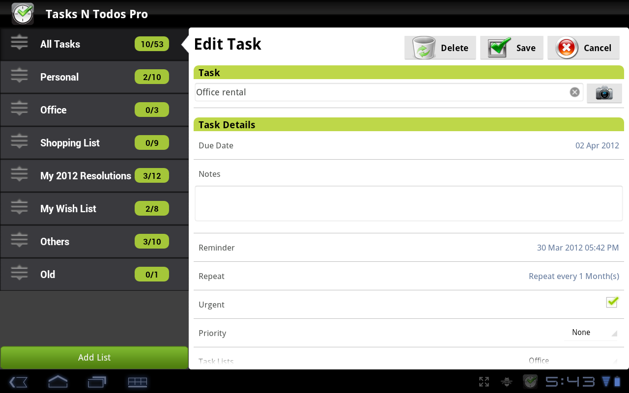 Tasks N ToDos Pro - To Do List- screenshot