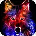 3D Wolf icon