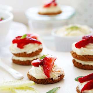 Cheat's  Mini Lime & Strawberry Cheesecakes