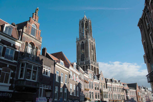 Dom Tower in Utrecht, southeast of Amsterdam in the Netherlands.