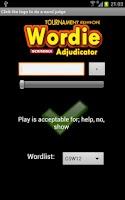 Screenshot of Wordie Scrabble Adjudicator TE