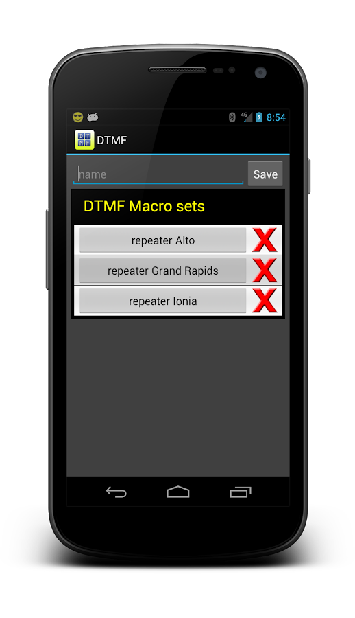 DTMF - screenshot