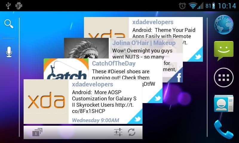 Stackz for Facebook & Twitter- screenshot