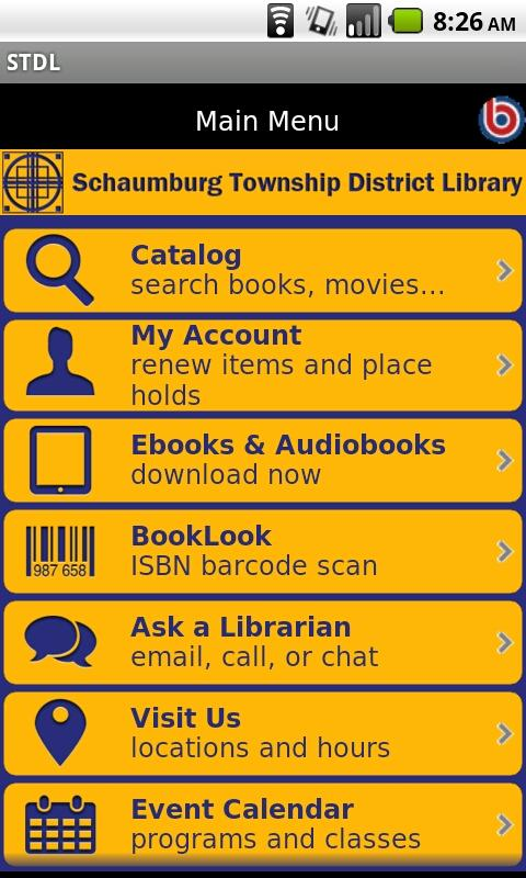 Schaumburg Twp. District Libra- screenshot