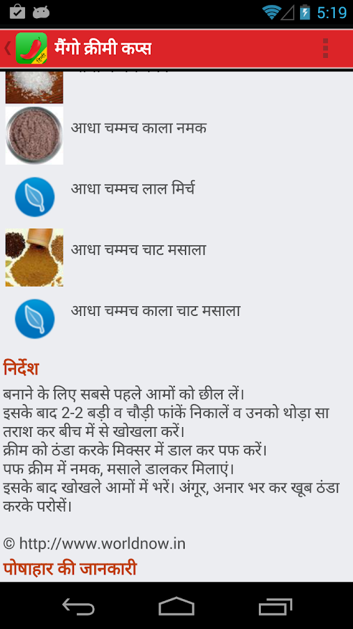 SweetNSpicy Hindi Recipes- screenshot