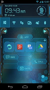 EVA Toucher Theme GO Launcher - screenshot thumbnail