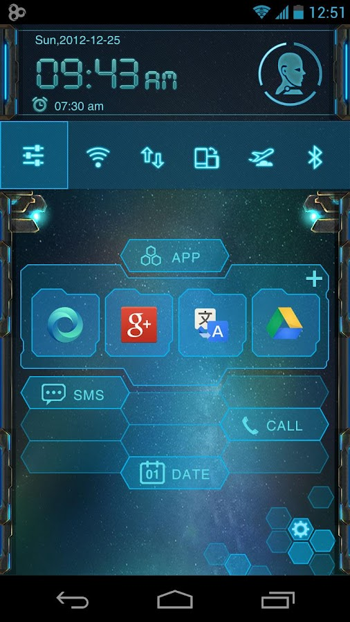 EVA Toucher Theme GO Launcher - screenshot