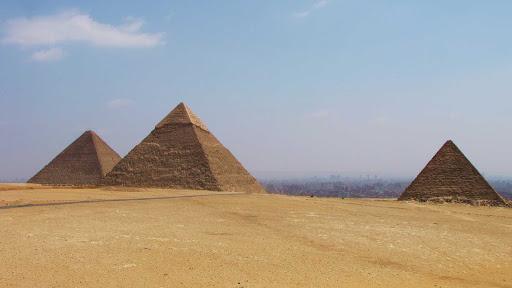 Giza-Egypt - The pyramids of Giza, Egypt.
