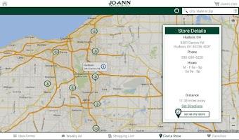 Screenshot of Jo-Ann Inspire for Tablets
