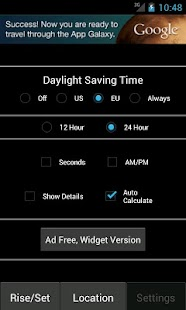 Sunrise Sunset Calculator Free - screenshot thumbnail