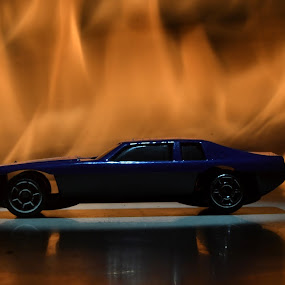 car  by Jerry Sarkr - Artistic Objects Toys ( automobile, fire )