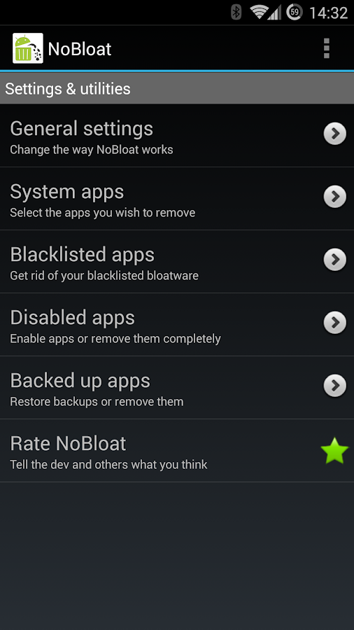 NoBloat- screenshot