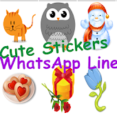 Cute sticker for WhatsApp Line