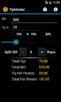 Screenshot of Tip Master Tip Calculator