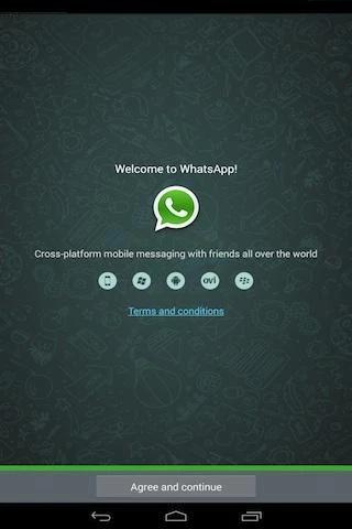 在平板電腦上安裝Whatsapp