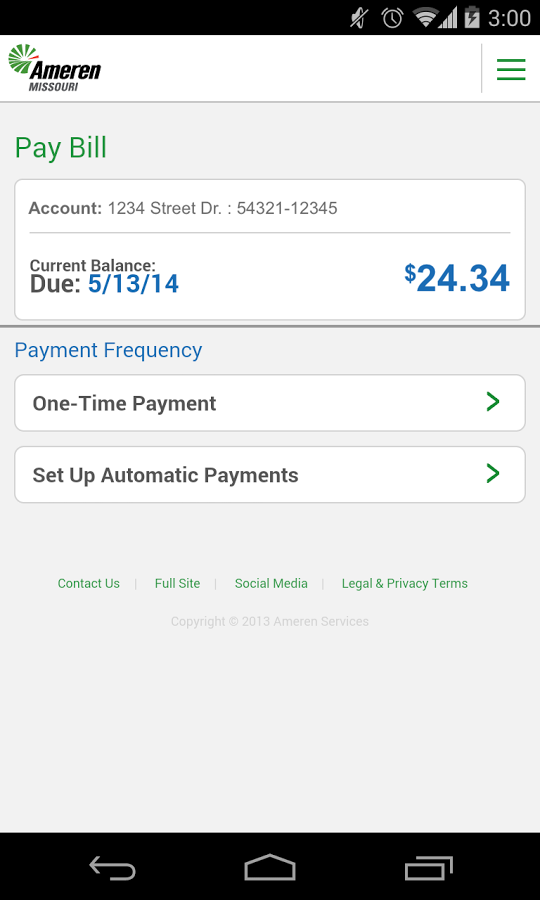 Ameren Mobile- screenshot