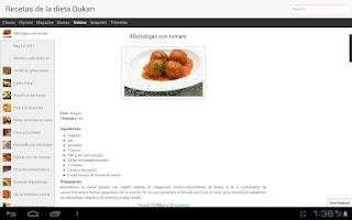 Screenshot of Recetas Dukan