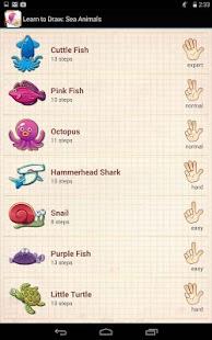 学习绘制海洋动物