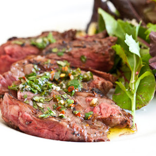 Skirt Steak with Chimichurri Sauce.