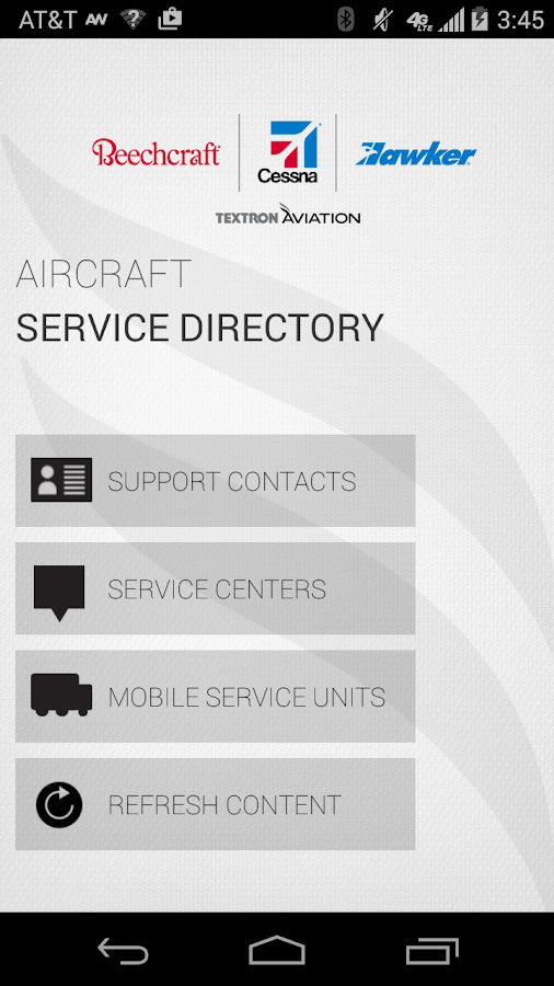 Textron Aviation Directory- screenshot