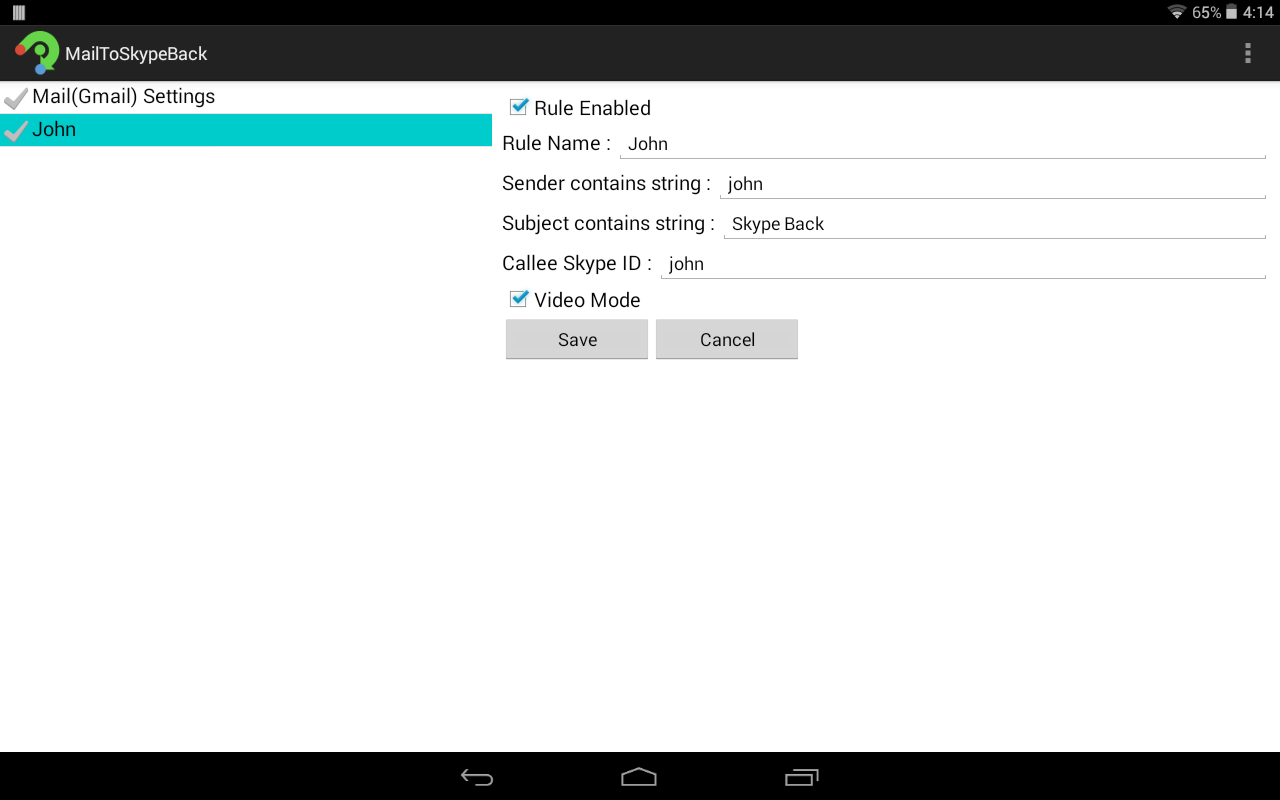how to change skype email on android
