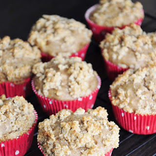 Apple Banana Muffins with Streusel.