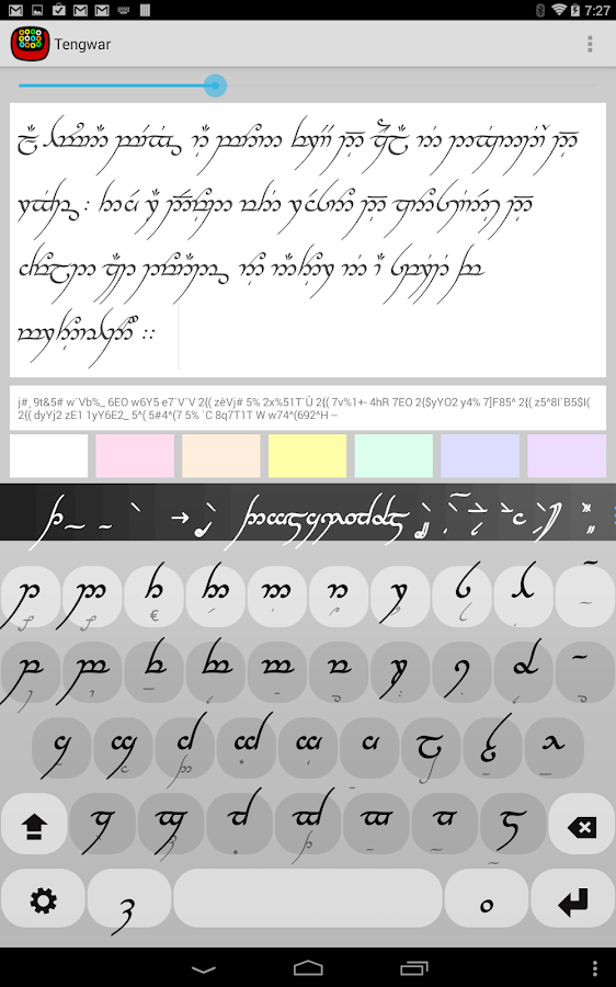 how to write in quenya