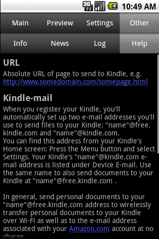 Send to Kindle- screenshot