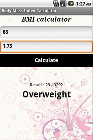 BMI Calculator- screenshot