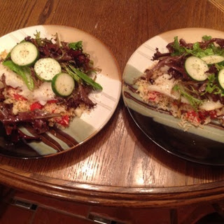 Mediterranean Cod with roasted tomato rice