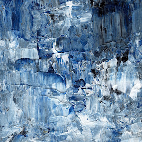 Ebb and flow across lost ice paradise by Iulia Cristina Handrabur - Painting All Painting ( cool, abstract, concept, unique, 2014, 2015, white, award, acrylic, pop, fantastic, decor, new, cold, blue, timeless, artistic, original, energy )