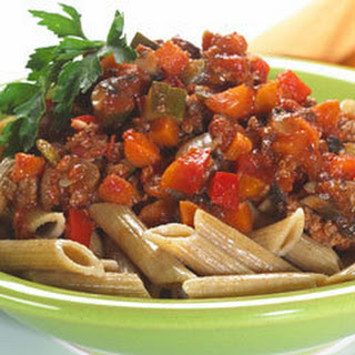 Vegetable-beef Bolognese.