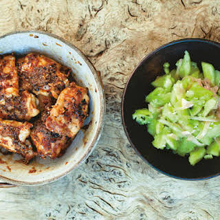 Japanese Ginger and Garlic Chicken With Smashed Cucumber From 'A Change of Appetite'.