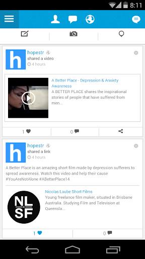 Hopestr Social Support Network