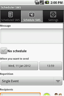 Scheduler SMS LITE - screenshot thumbnail