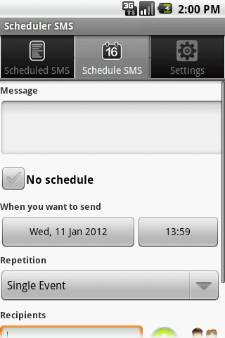 Scheduler SMS LITE - screenshot