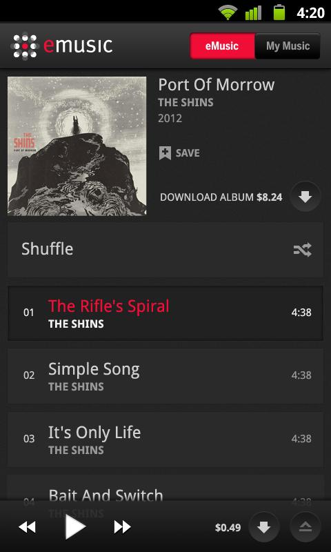 eMusic - screenshot