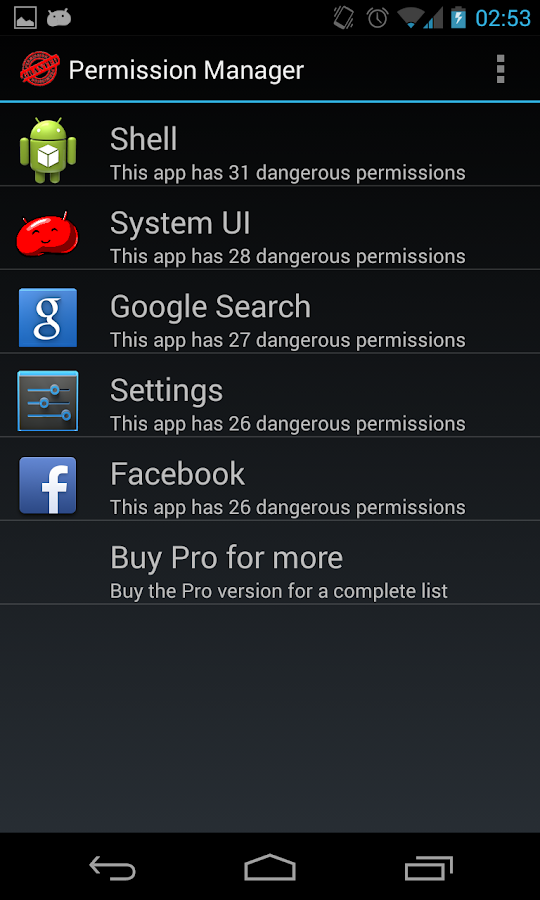 Permission Manager- screenshot