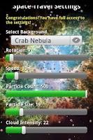 Screenshot of Space Travel 3D Live Wallpaper