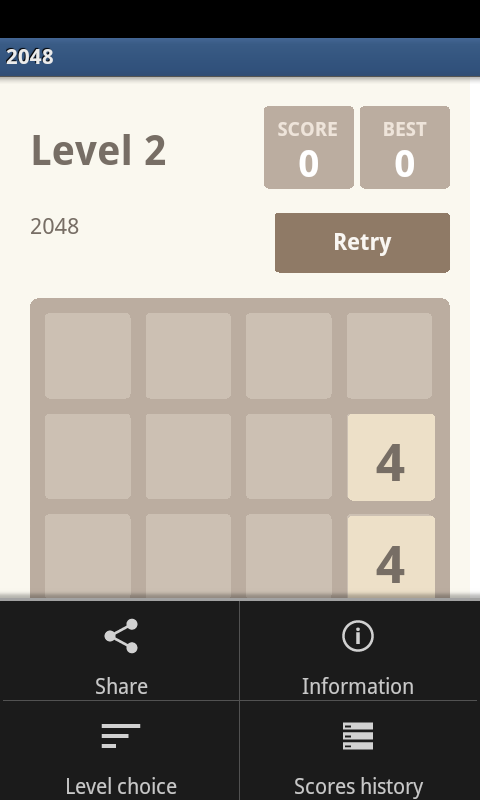 2048 HD - The Best Puzzle Game - screenshot