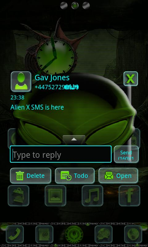 ALIEN X GO SMS Pro- screenshot