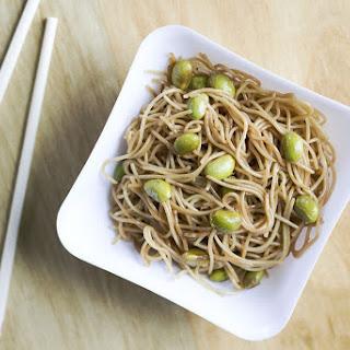 Garlic Sesame Noodles With Edamame.