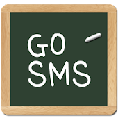 chalk board GO SMS theme
