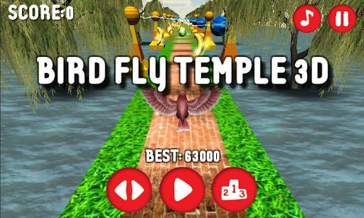 Bird Fly Temple 3D