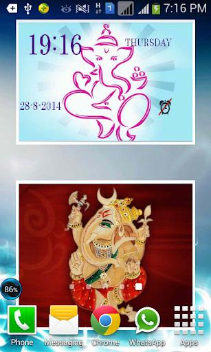 Digital Clock Ganesh LWP